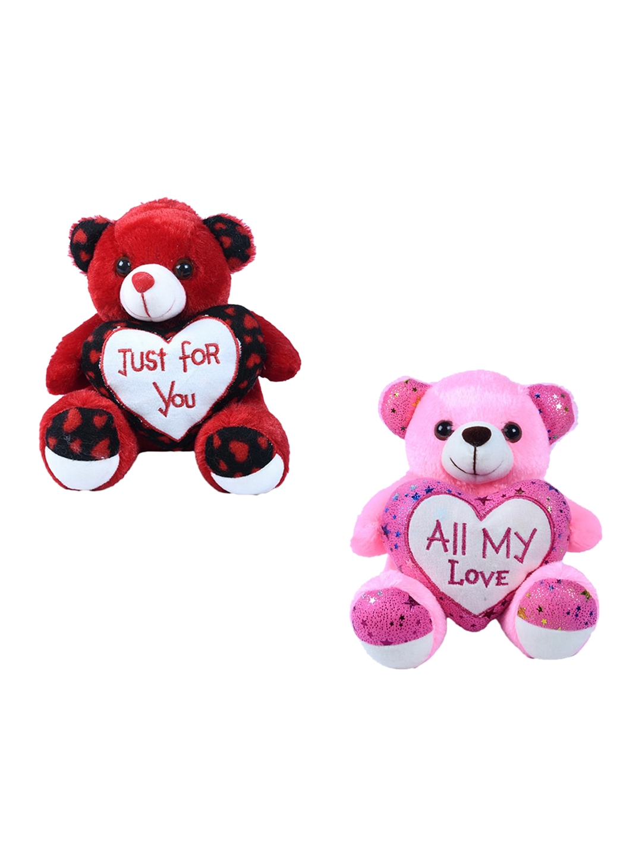 DukieKooky Set Of 2 Teddy Bear Soft Toys