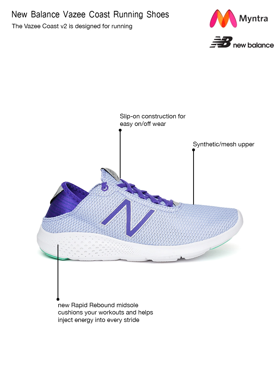 ace8f6dc2999b Buy New Balance Women Lavender WCOASPR2 Running Shoes - Sports Shoes ...