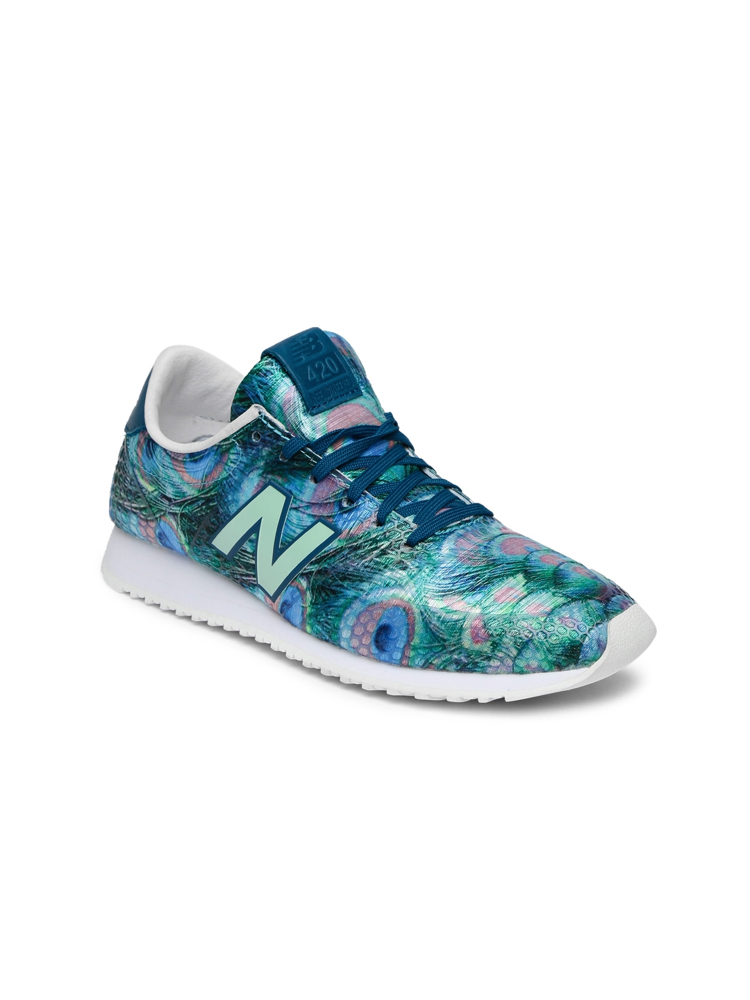 51d04c4edee31 Buy New Balance Women Green Reengineered 420 Printed Sneakers ...