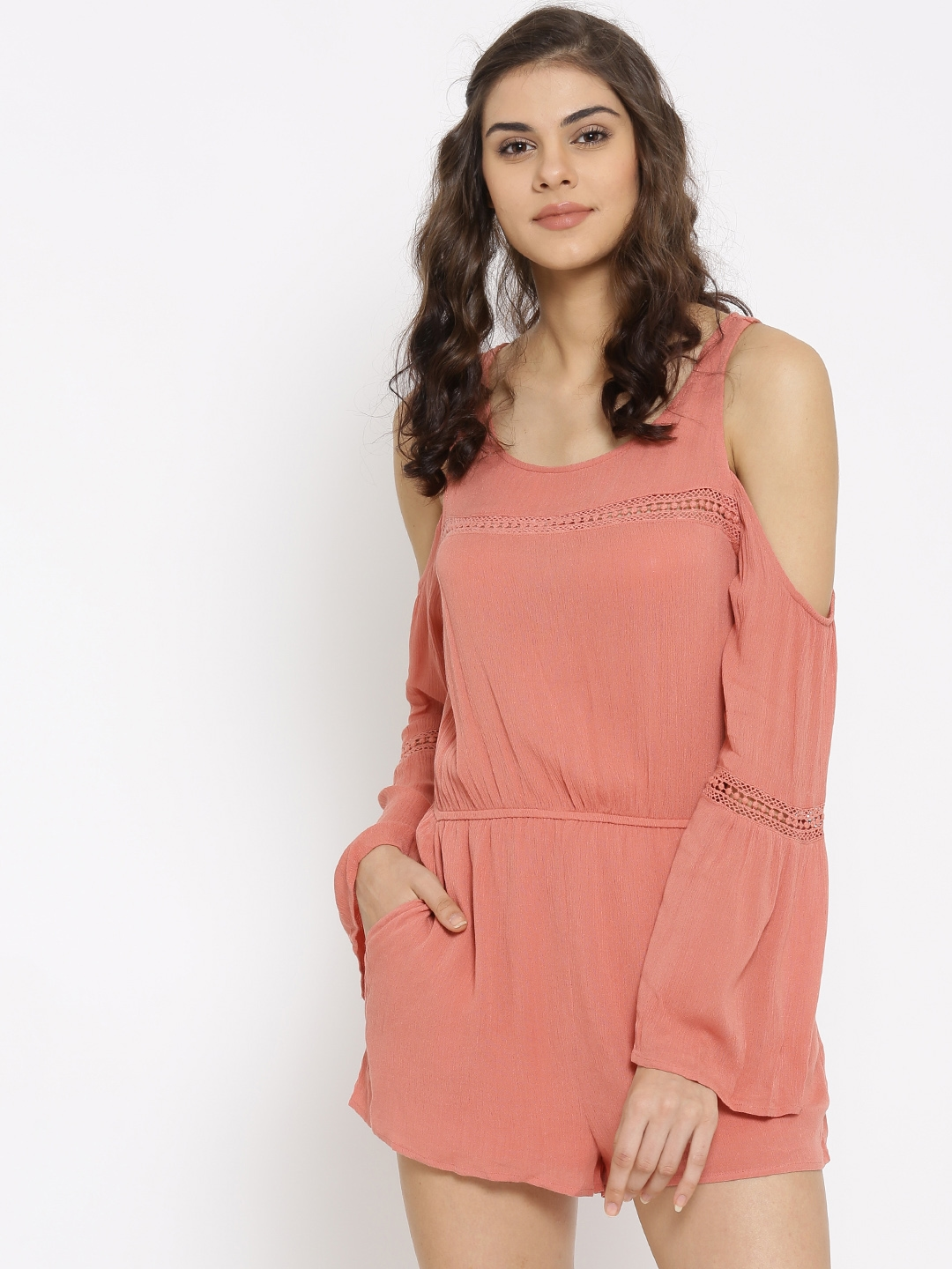 a88218da2fd Buy FOREVER 21 Dusty Pink Playsuit - Jumpsuit for Women 1575252