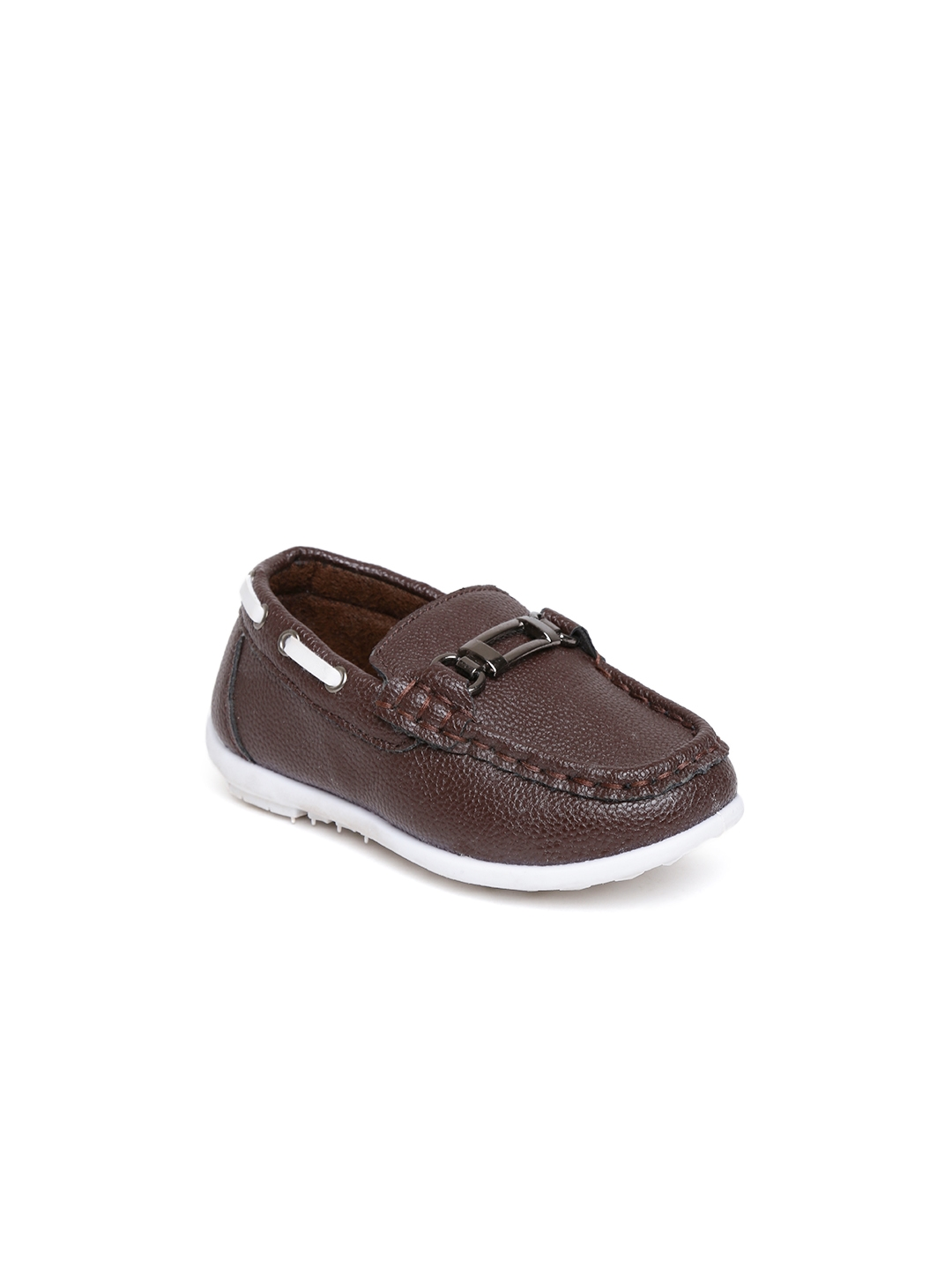 3a3006a90f2 Buy Kittens Boys Coffee Brown Solid Loafers - Casual Shoes for Boys ...