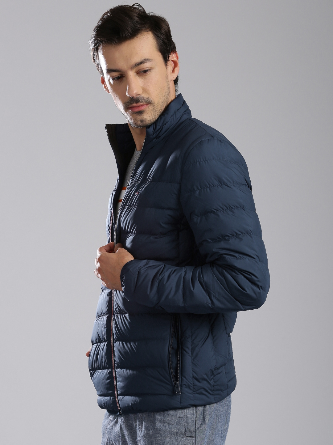 ac856eae63b6 Buy Tommy Hilfiger Navy Quilted Jacket - Jackets for Men 1577174 ...