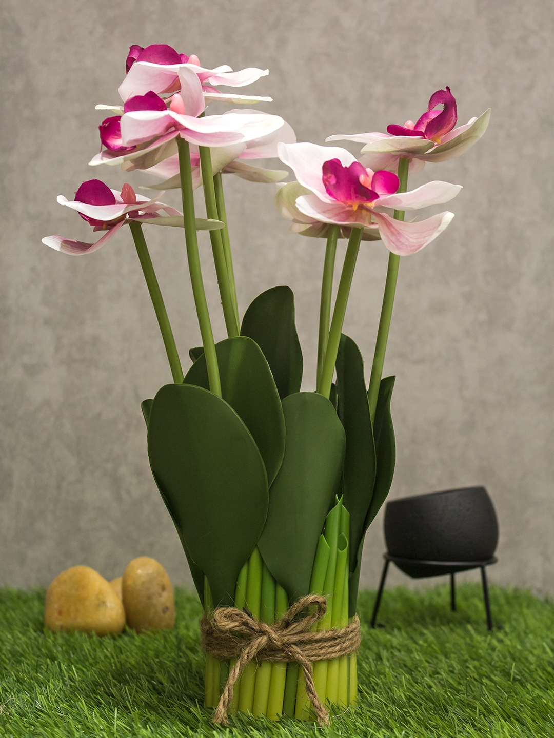 PolliNation Artificial Light Pink Orchid Flower Bunch   13 inch