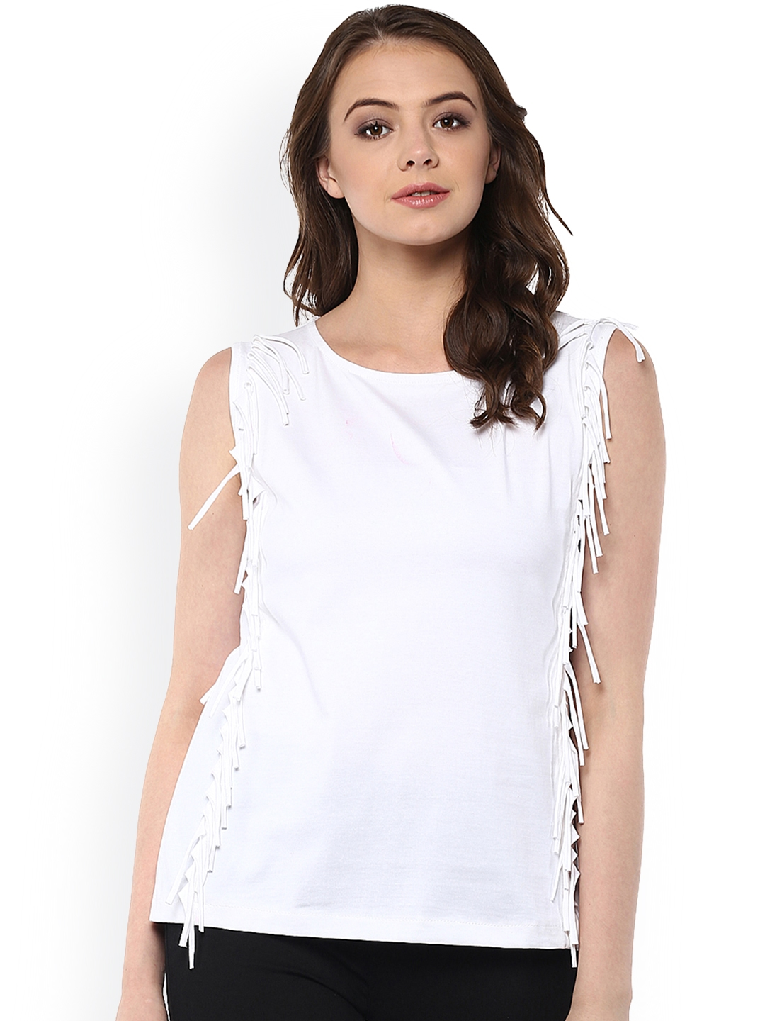 Miss Chase Women White Solid Top
