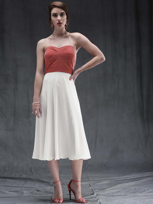 162b42b04681 Buy Ankita Choksey Red   White Midi Dress - Dresses for Women ...