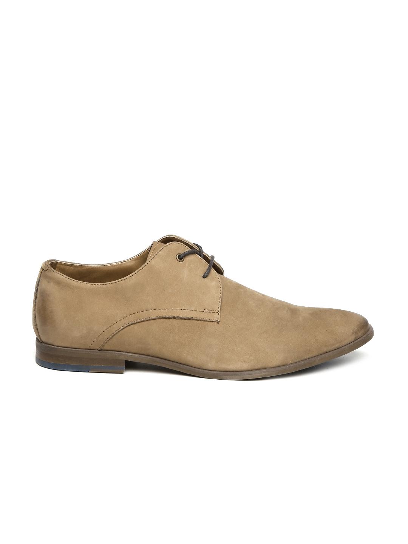 be51a66d78fa Buy ALDO Men Brown Viralian Suede Derby Shoes - Formal Shoes for Men ...