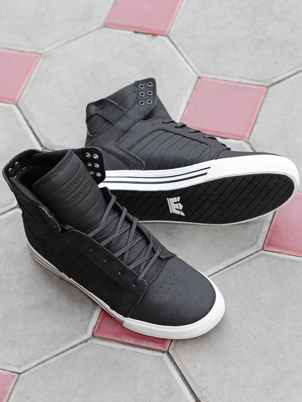 5c2bd092d8c573 Buy Supra Men Black Solid SKYTOP High Top Sneakers - Casual Shoes ...