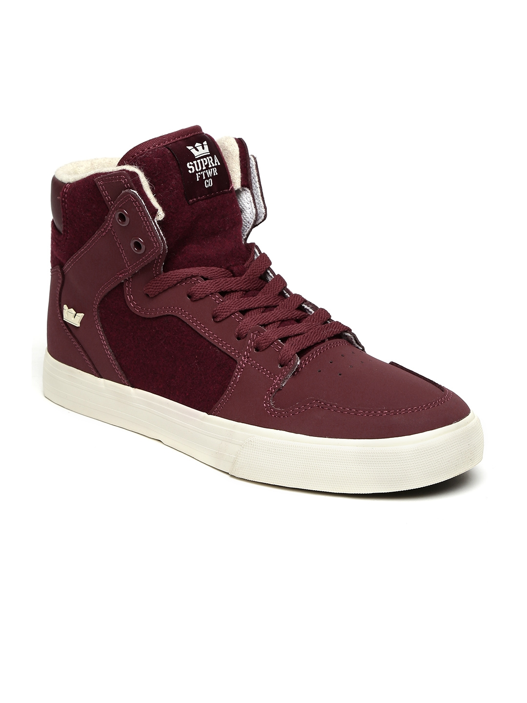 2467af91a089 Buy Supra Men Burgundy Solid Vaider Skate Shoes - Casual Shoes for ...