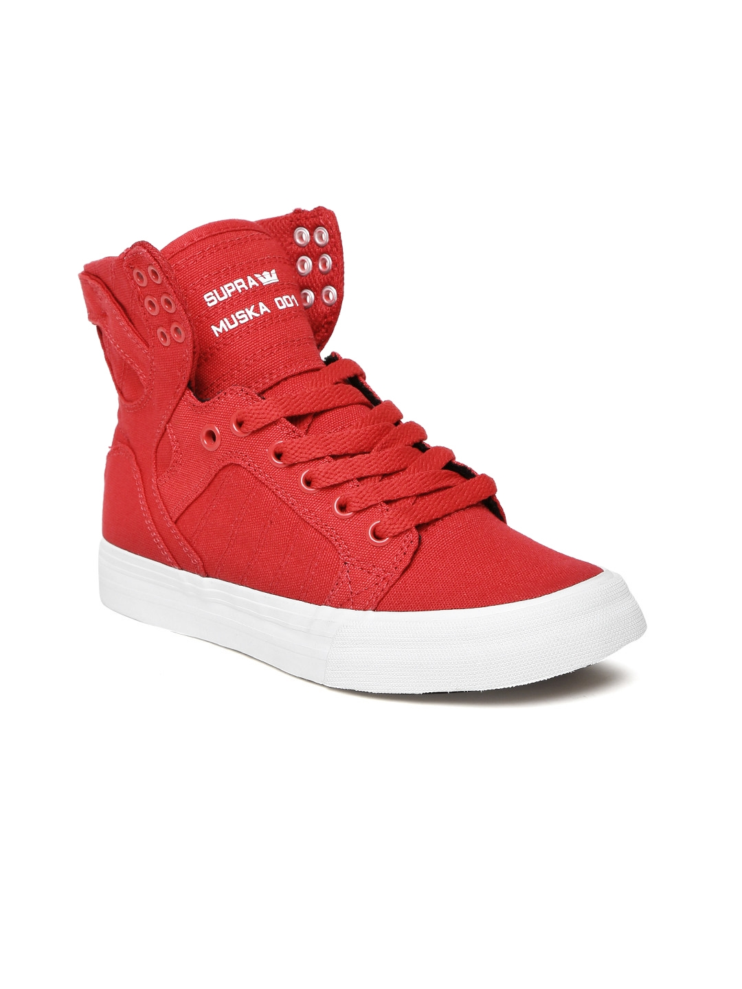 70884817a8b0 Buy Supra Women Red Solid SKYTOP D High Top Skate Shoes - Casual ...