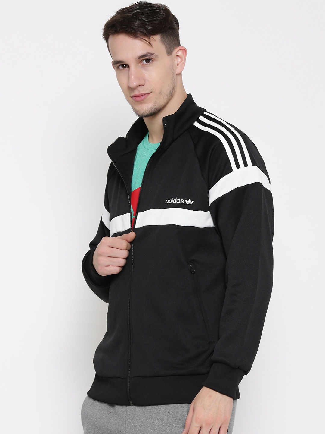 Buy Adidas Originals Black Itasca Tt Sporty Jacket Jackets For Men