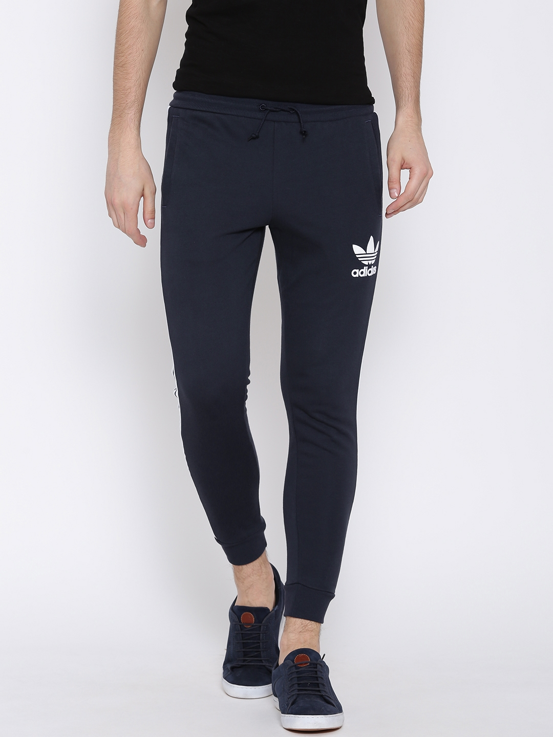 adcf80eaba11 Buy ADIDAS Originals Navy CLFN FT Track Pants - Track Pants for Men ...