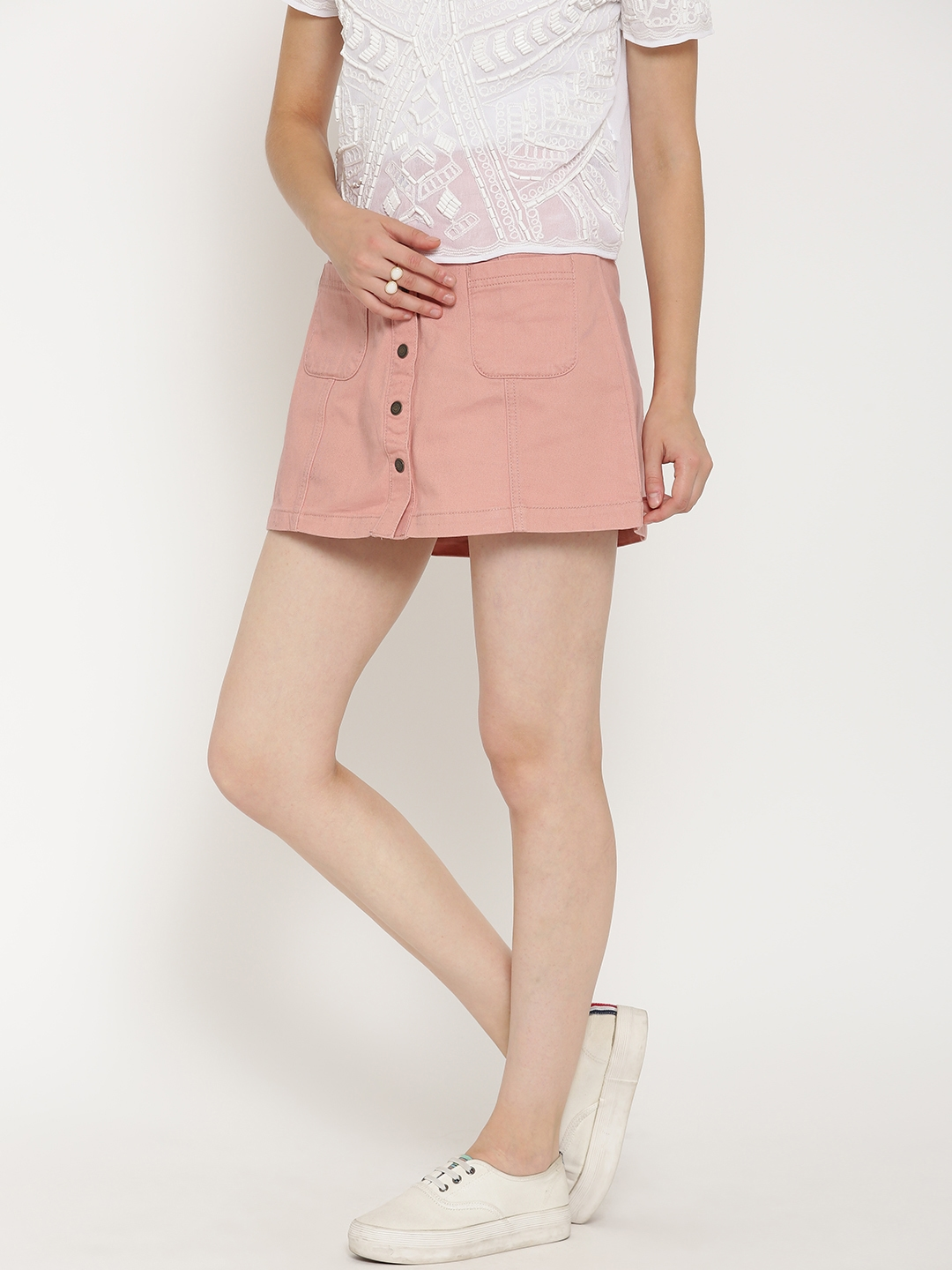 84610e95c Buy FOREVER 21 Dusty Pink A Line Mini Skirt - Skirts for Women ...