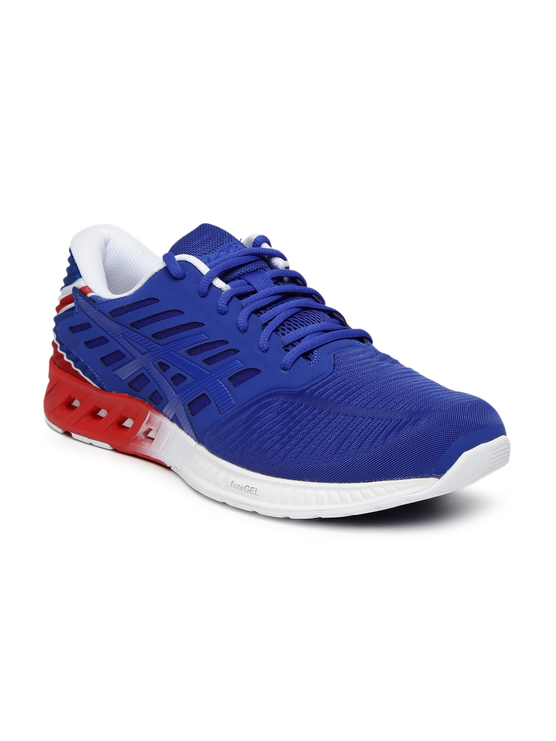 2401b3e0dfe1 Buy ASICS Unisex Blue   Red FuzeX Country Pack Running Shoes ...