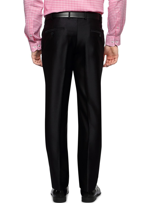 7e4a4c15de80 Buy Van Heusen Men Black Solid Slim Fit Flat Front Formal Trousers ...