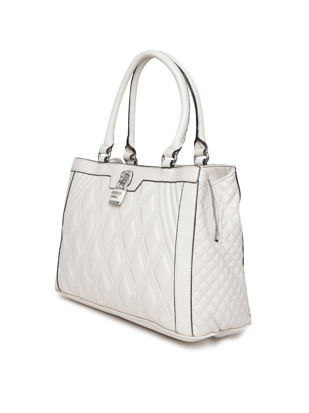 ... Buy GUESS Off White Quilted Handbag Handbags for Women 1591138 025266f38726c