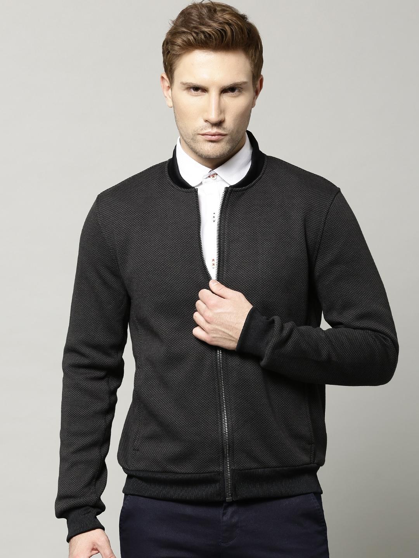 Mens jacket marks and spencer - Marks Spencer Charcoal Grey Patterned Tailored Fit Bomber Jacket