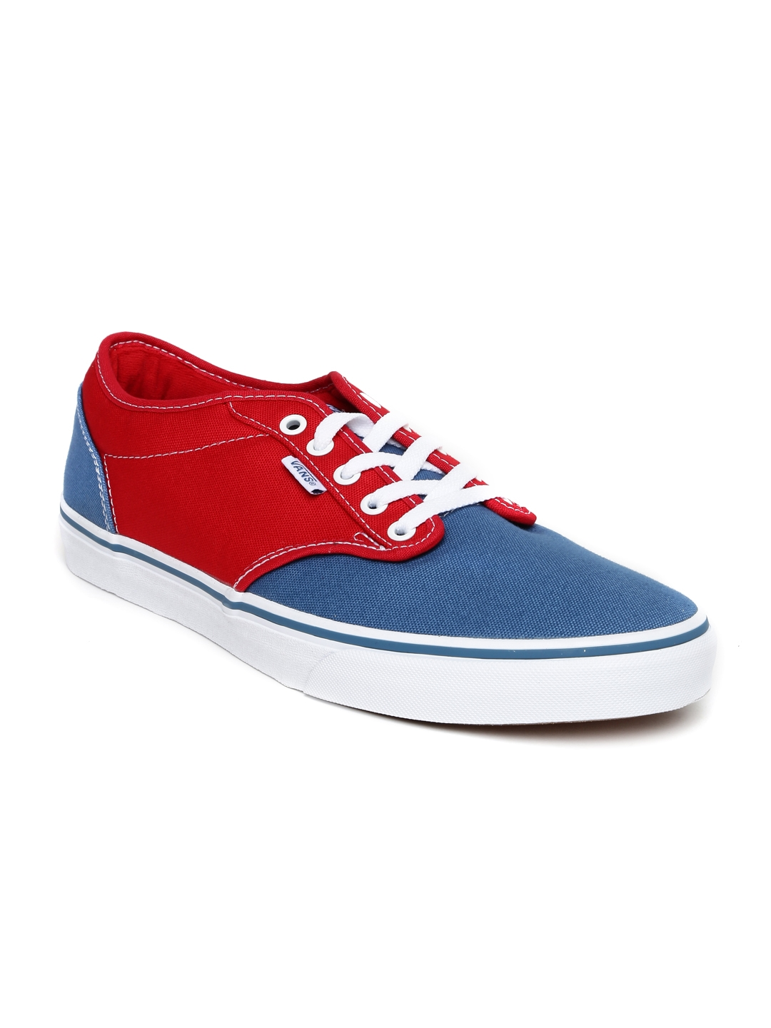 9083a6f091c48c Buy Vans Men Red   Blue Colourblocked Atwood Sneakers - Casual Shoes for Men  1593693