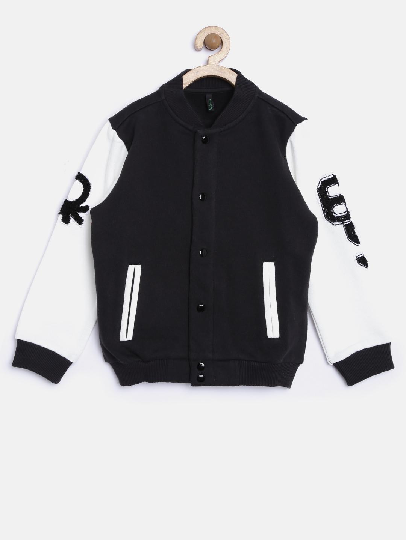 5a5ec54c90a3 Buy United Colors Of Benetton Boys Black   White Colourblocked ...