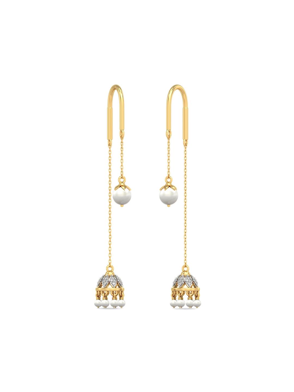 239121441 Buy BlueStone 2.222 G 14KT Gold Alisha Sui Dhaga Earrings With ...