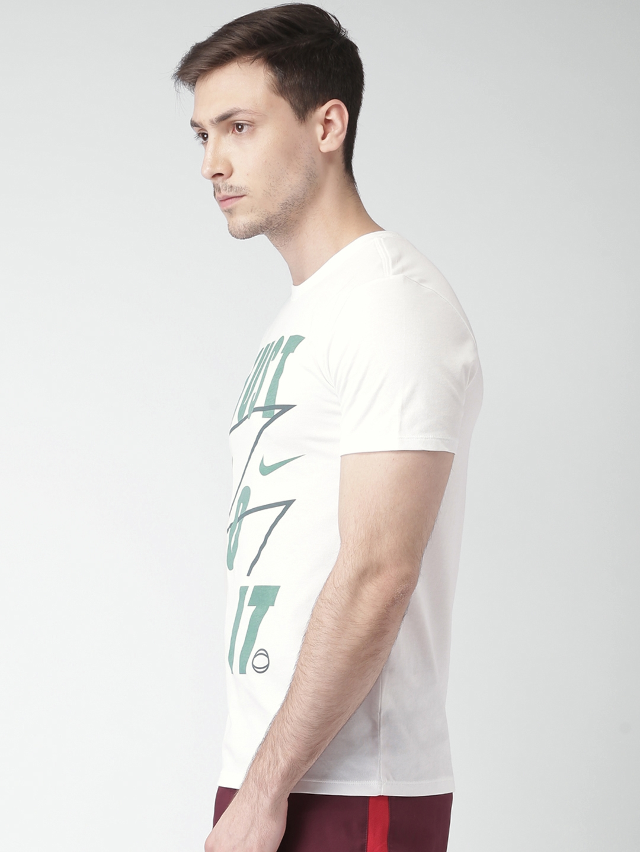 a0a1ffbdda01 Buy Nike Men White Printed Round Neck T Shirt - Tshirts for Men ...