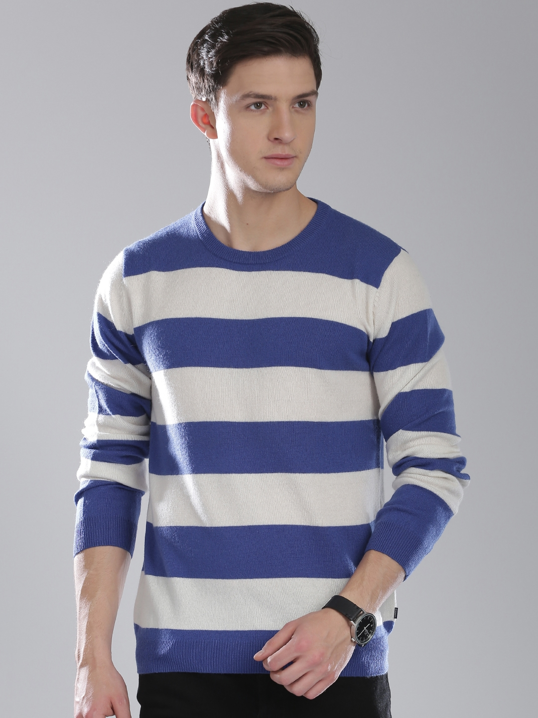 Buy Gant Men Blue And Off White Striped Sweater Sweaters For Men
