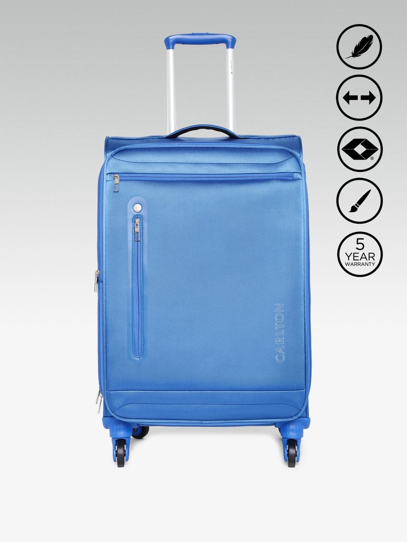 26ae0c755 Buy CARLTON Unisex Blue Nova Spinner Medium Trolley Bag - Trolley ...