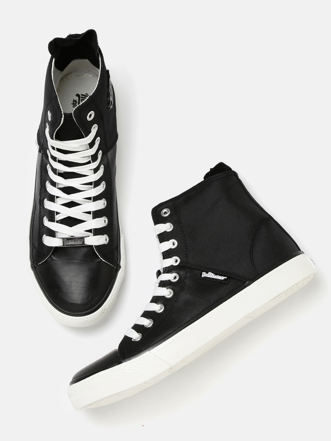 6563dbc8d8e Buy Roadster Men Black Textured High Top Sneakers - Casual Shoes for ...