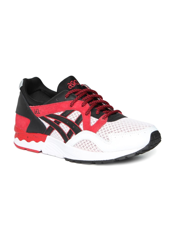 dd114b92ce37 Buy ASICS Tiger Unisex White   Red Gel Lyte V Training Shoes ...