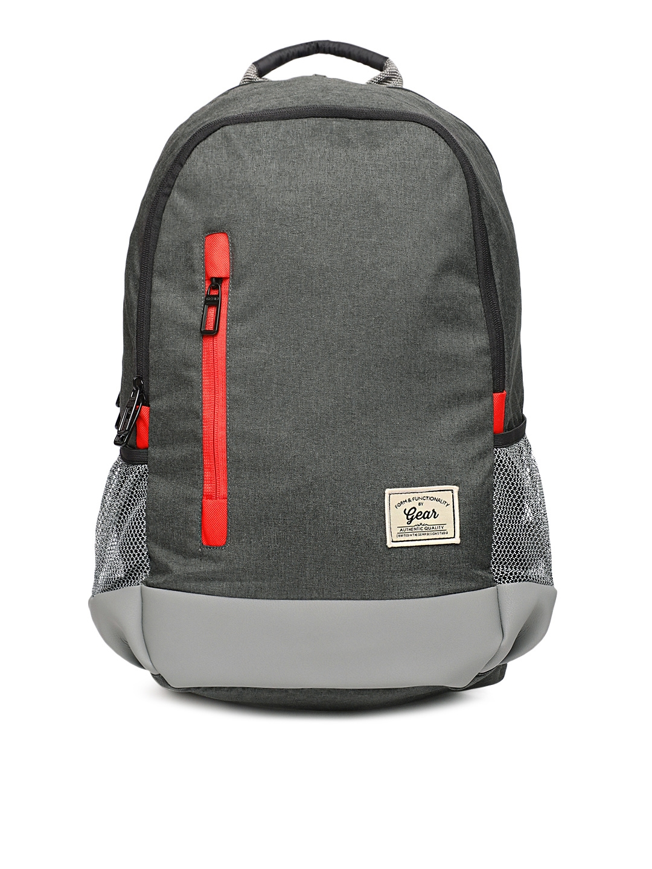 Gear Unisex Black   Grey Campus 8 Backpack