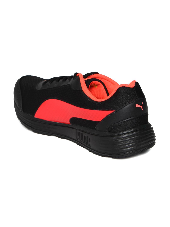4c5ab265066350 Buy Puma Men Black   Red Reef Fashion DP Running Shoes - Sports ...