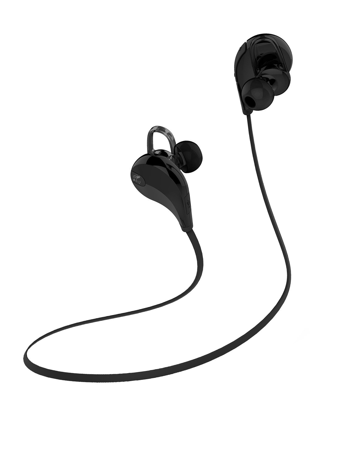 SoundPEATS Black QY7 Bluetooth 4.0 Wireless Sports Headset with Mic