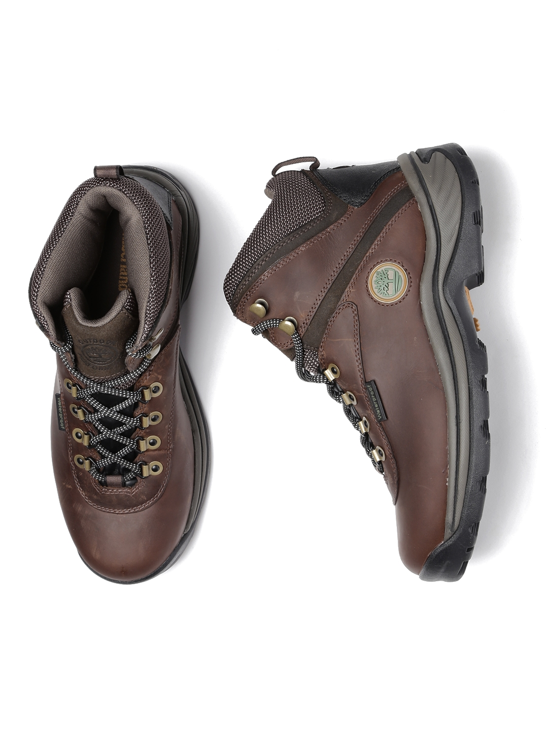 dcacaca66 Buy Timberland Men Brown White Ledge Leather Waterproof Trekking ...