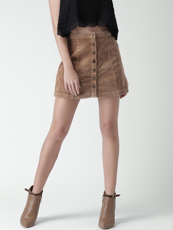3215d7c8f308 Buy FOREVER 21 Brown Corduroy A Line Mini Skirt - Skirts for Women ...