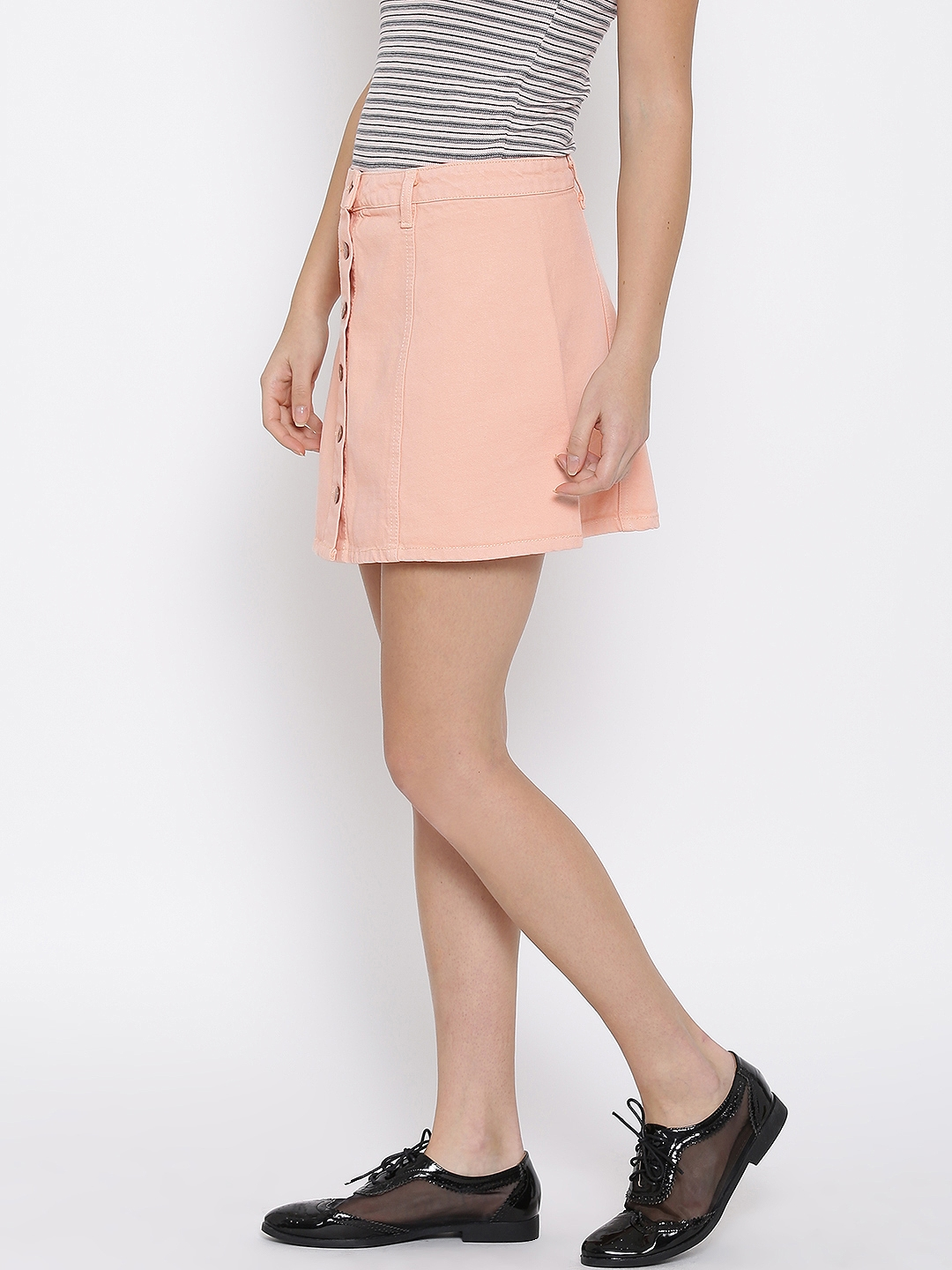 1adb95376 Buy FOREVER 21 Peach Coloured A Line Denim Skirt - Skirts for Women ...