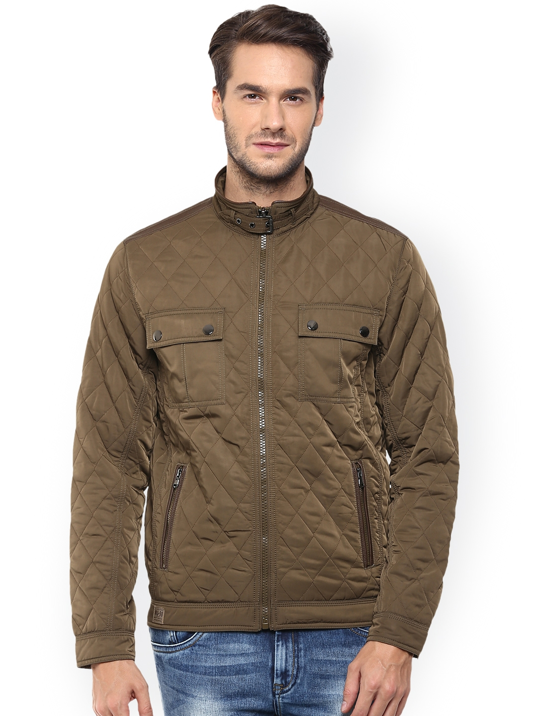 0ff7852ae0 Buy Mufti Olive Brown Quilted Jacket - Jackets for Men