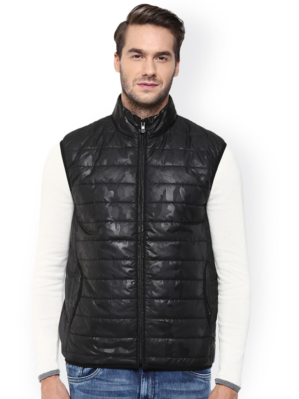 6f683070e71f9 Buy Mufti Black Sleeveless Puffer Jacket - Jackets for Men