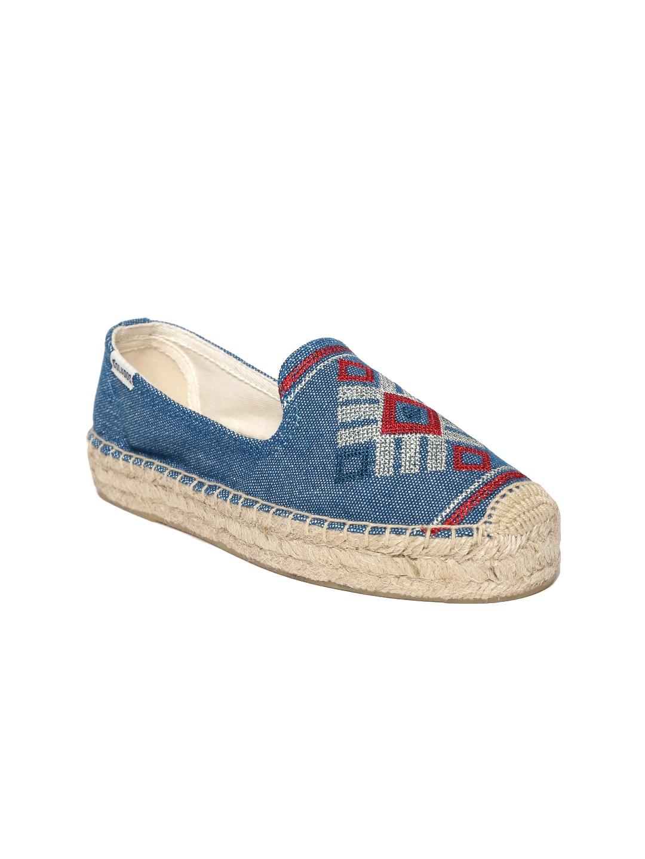 eb0295e8809 Buy Soludos Women Blue Espadrilles With Woven Design - Casual Shoes ...
