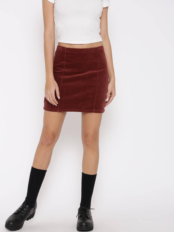 b26148a06 Buy FOREVER 21 Rust Orange Corduroy Mini Pencil Skirt - Skirts for ...