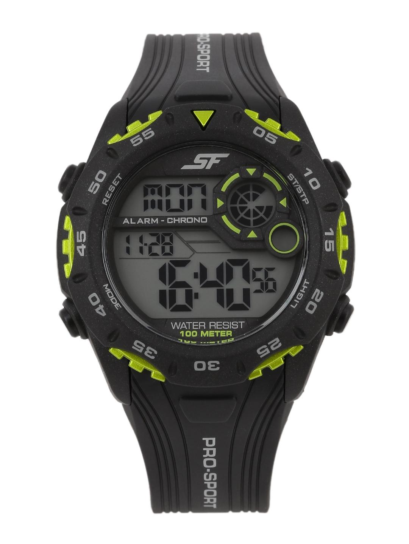 Sonata Pro Sport Men Black Digital Watch 77068PP02J