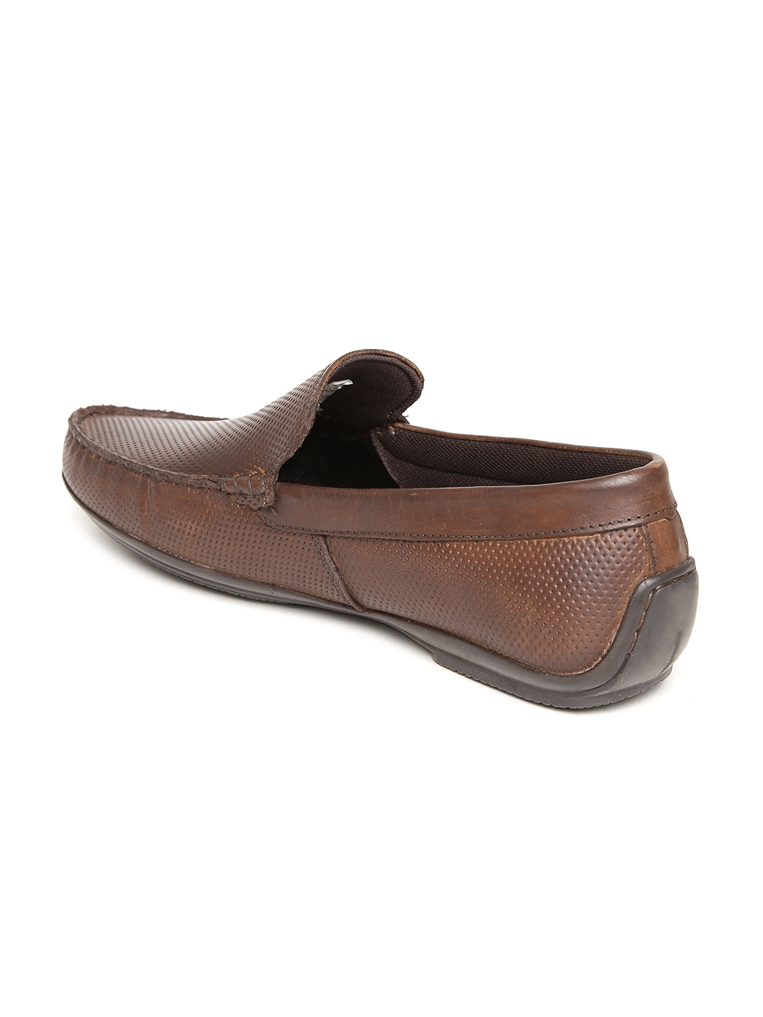 bd7dce8fb3 Buy Red Tape Men Brown Textured Leather Loafers - Casual Shoes for ...