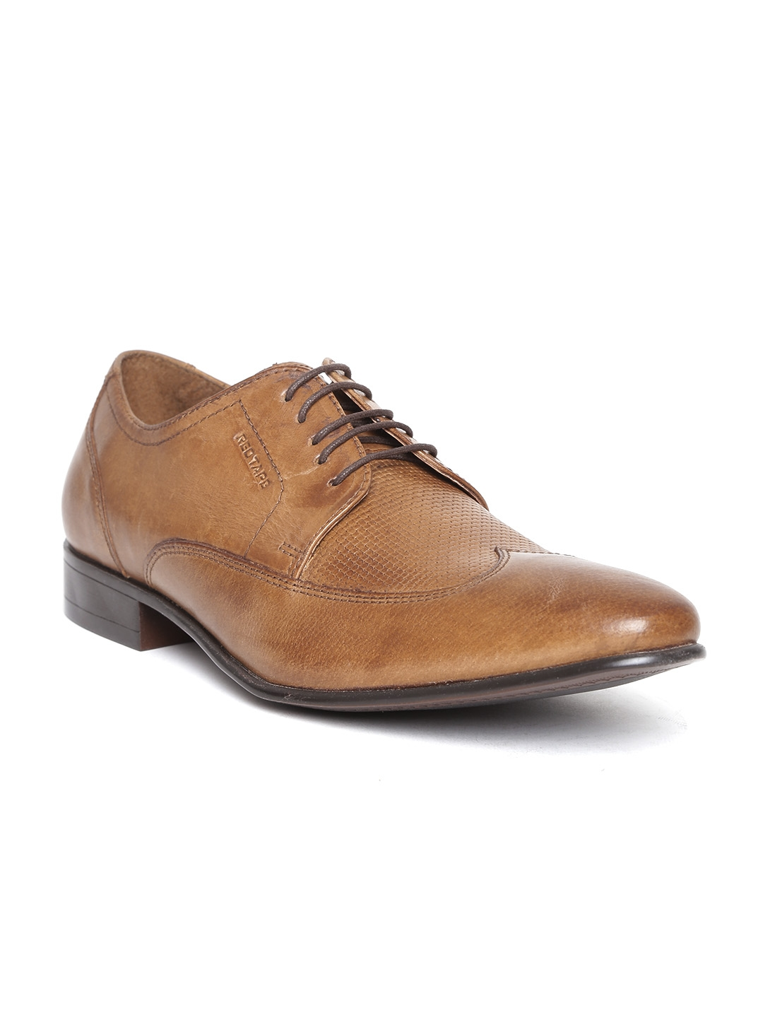 Buy Red Tape Men Brown Textured Leather