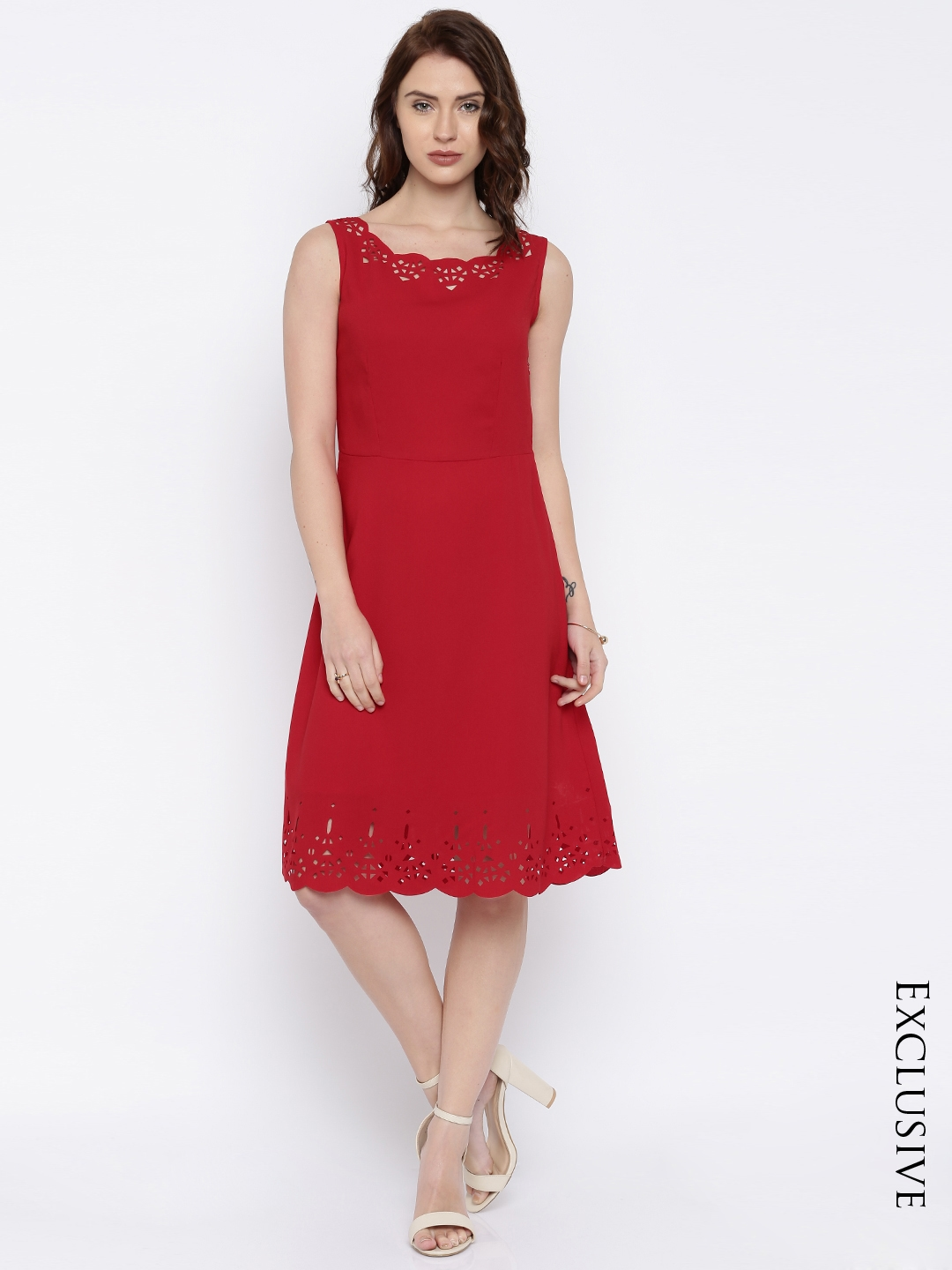 Knee Length Dress - Buy Knee Length Dresses Online in India