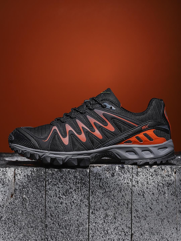 b3f0cb398 Buy HRX By Hrithik Roshan Men Black Core 1.0 Running Shoes - Sports ...