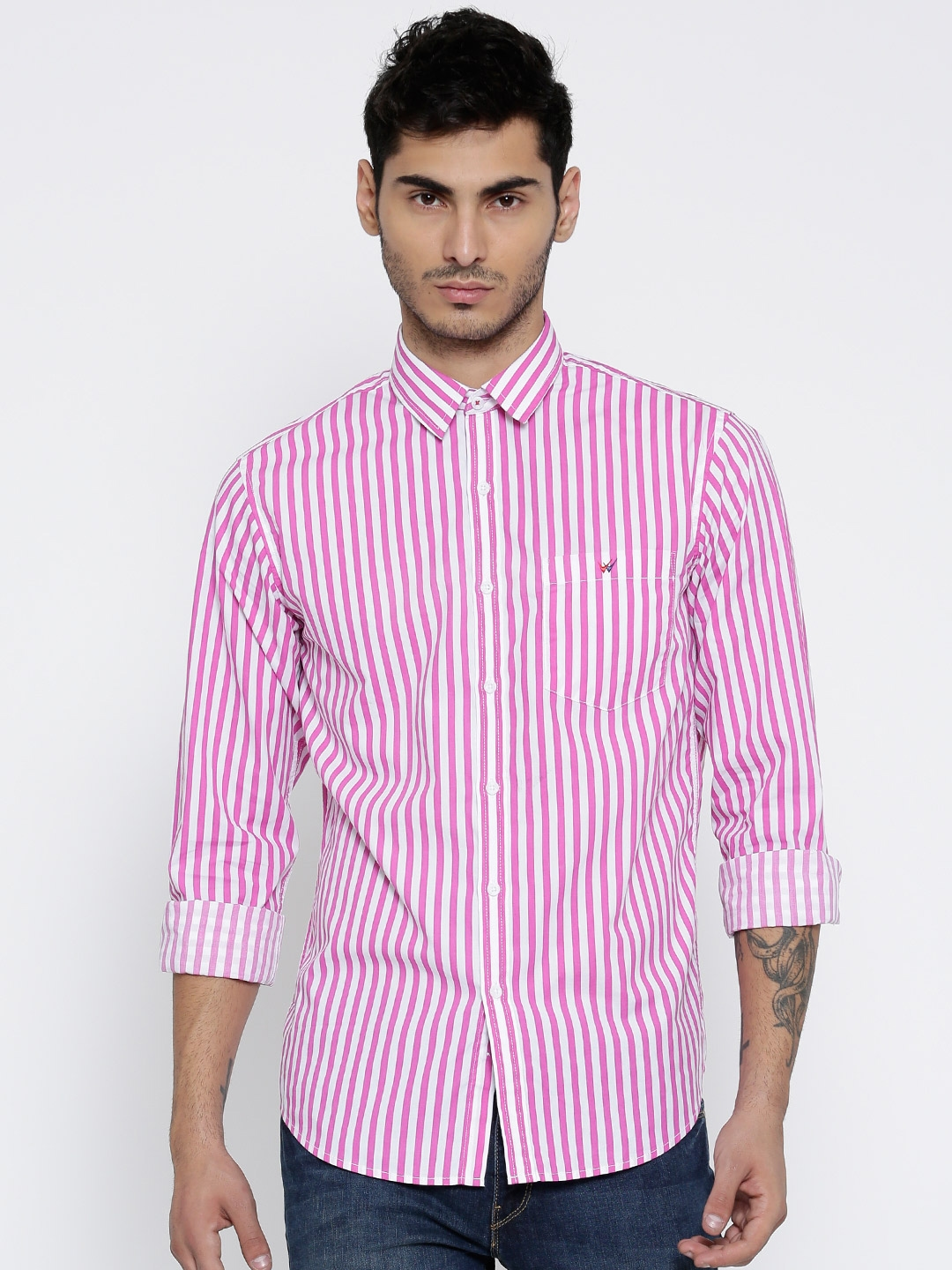 Wear to what with pink striped shirt advise to wear for autumn in 2019