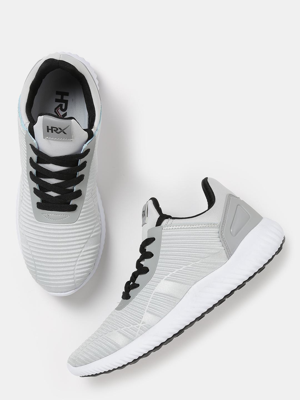 b060c2b6a Buy HRX By Hrithik Roshan Men TwiLightweight Grey Textured Sneakers ...