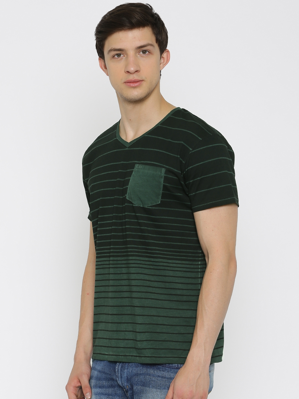 0806cc204e Buy Lee Men Black Striped V Neck T Shirt - Tshirts for Men 1658456 ...