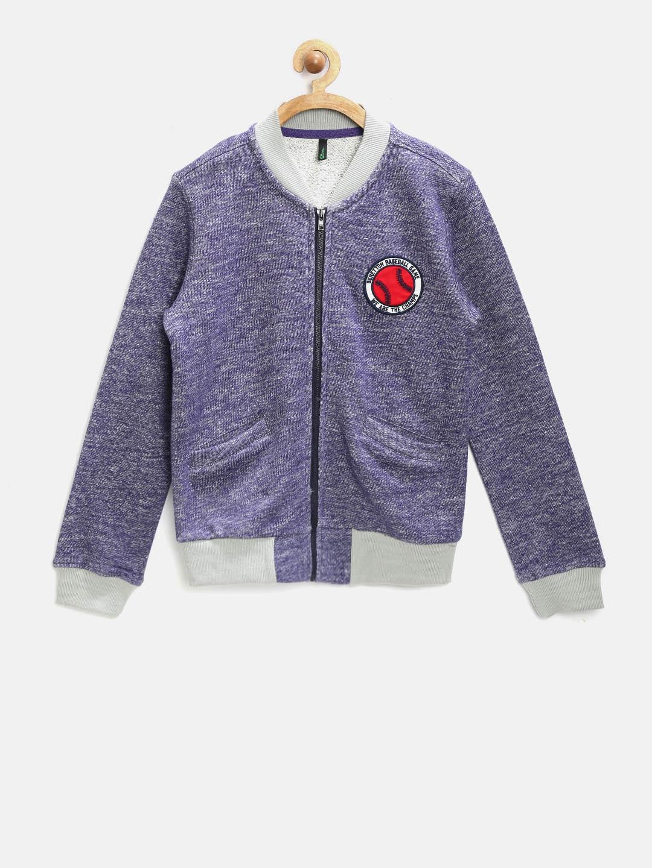 United Colors of Benetton Boys Purple Sweatshirt