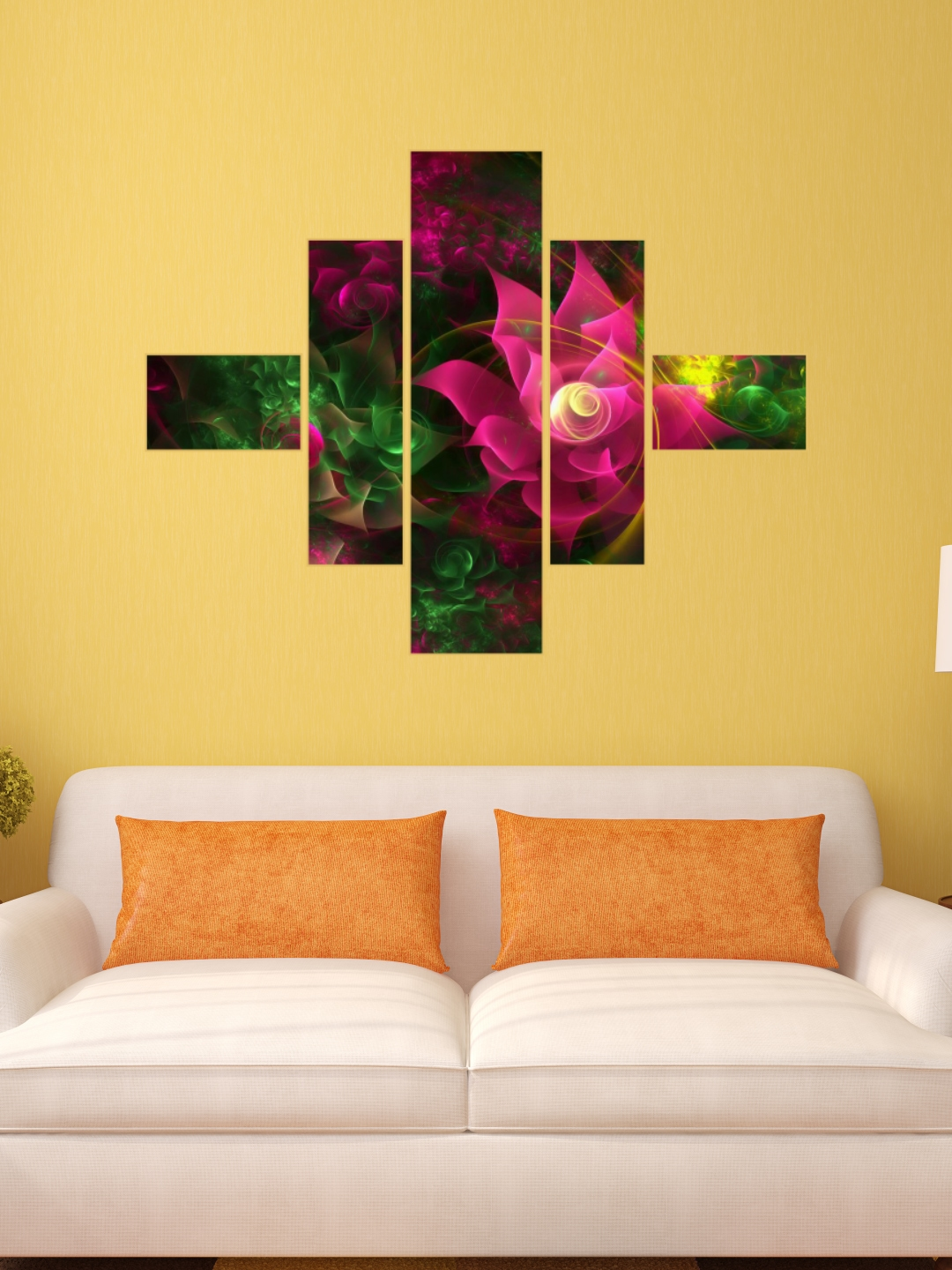 Buy DeStudio Multicoloured 3D Flowers Wall Sticker - Decals And ...