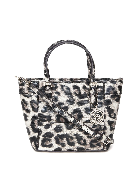 00316bb95882 Buy GUESS Black & Beige Leopard Print Handbag - Handbags for Women 1668094    Myntra