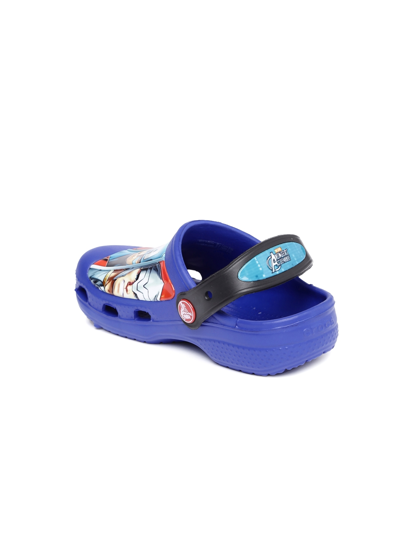 7ee82c998cf0c Buy Crocs Boys Navy Marvel Avengers Clogs - Flip Flops for Boys ...